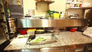 Restaurant kitchen interior
