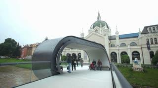 SARAJEVO, BOSNIA - MARCH 2014: Festina lente bridge in the capital Bosnian city.