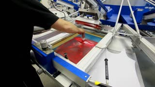 Screen printing manufacturing on t-shirts