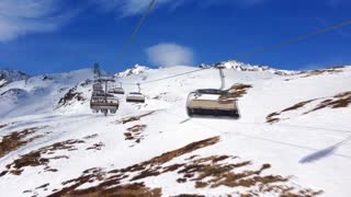 Ski lifts in the Austrian Alps