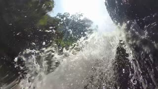 Slow motion of beautiful waterfall in Ella, Sri Lanka.