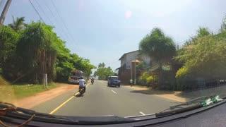 SOUTHERN COAST, SRI LANKA - FEBRUARY 2014: Timelapse of Sri Lankan tropical landscape.
