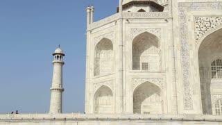 Taj Mahal's side wall and tower.