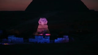 The Great Sphinx Night Light Show, Giza, Egypt