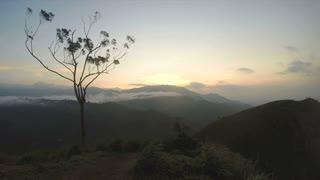 Timelapse of magical sun rising at Ella Peak, Sri Lanka.