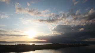 timelapse of setting sun over the sea in croatia