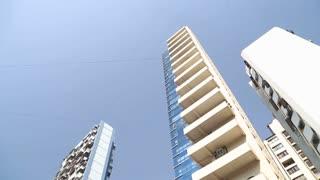 Up view of new high rises in Mumbai.