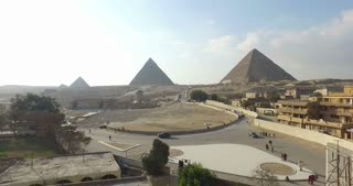 View of beautiful Giza pyramids complex, Egypt