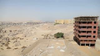View of buildings in poorer part of Aswan