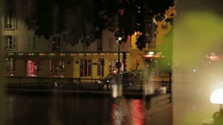 View of Canal St. Martin, shoot from apartment window in Paris