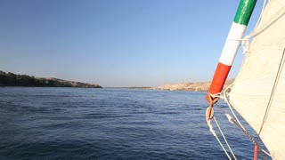 View of Nile from felucca boat