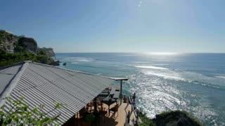View of sea and coastline from Uluwatu in Bali, Indonesia