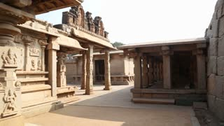 View of the beautiful temple in Hampi.