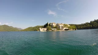 View of the island of Mljet from a boat