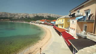 View of the town of Baska on the island of Krk, Croatia