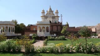 View on garden by Jaswant Thada temple in Jodhpur.