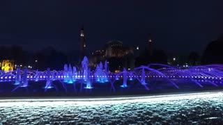Water fountain in front of Sultan Ahmed Mosque, Istanbul