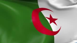 Algeria Waving Flag Background Loop