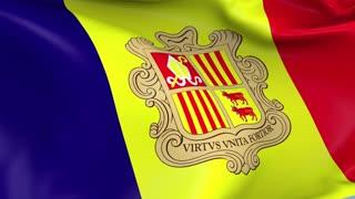 Andorra Waving Flag Background Loop