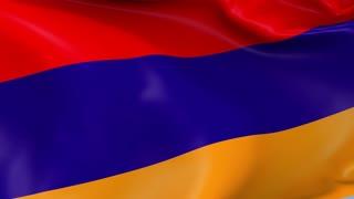 Armenia Waving Flag Background Loop