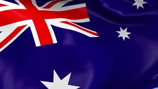Australia Waving Flag Background Loop