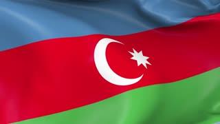 Azerbaijan Waving Flag Background Loop