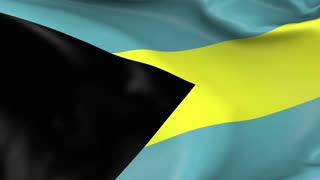 Bahamas Waving Flag Background Loop