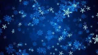 Blue Christmas Snow Flakes