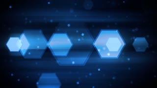 Blue Dynamic Hexagons