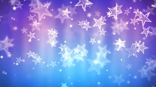 Blue Glassy Stars