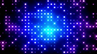 Blue Glittering Light Grid