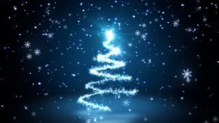 Blue Glittering Sparkles christmas Tree