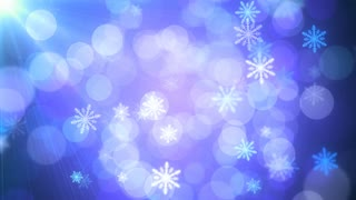 Blue Holiday Lights Snowflakes