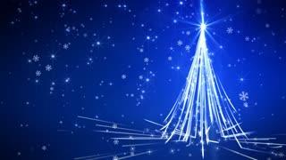Blue Streaks Christmas Tree