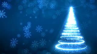 Blue Strokes Christmas Tree