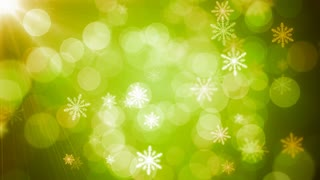Bokeh light snowflakes