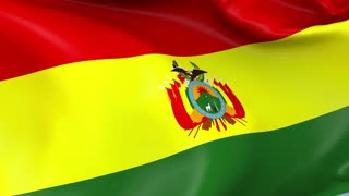 Bolivia Waving Flag Background Loop