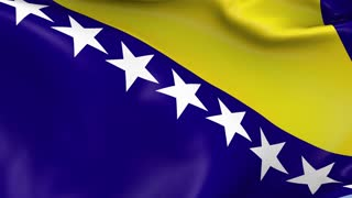 Bosnia and Herzegovina Waving Flag Background Loop