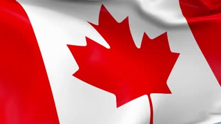 Canada Waving Flag Background Loop