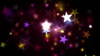 Colorful Warm Shining Stars