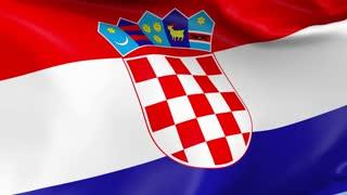 Croatia Waving Flag Background Loop