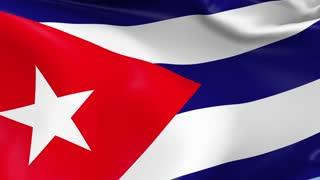 Cuba Waving Flag Background Loop