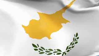 Cyprus Waving Flag Background Loop