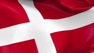 Denmark Waving Flag Background Loop