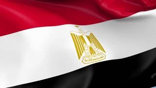 Egypt Waving Flag Background Loop