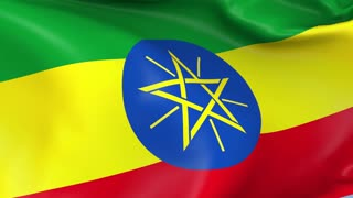 Ethiopia Waving Flag Background Loop