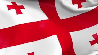 Georgia Waving Flag Background Loop
