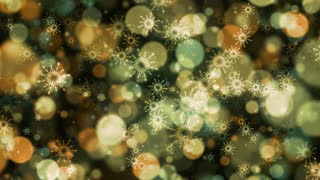 Golden Bokeh Snowflakes