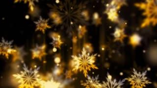 Golden Glassy Snowflakes