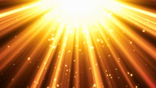 Golden Light Rays Background